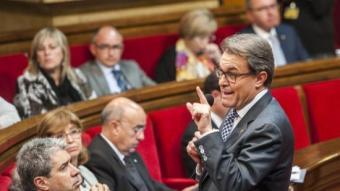 El president de la Generalitat, Artur Mas, en la sessió de control JOSEP LOSADA