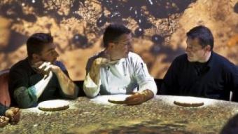 Jordi, Joan i Josep Roca durant el procés de creació d''El somni' MEDIAPRO