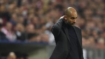 Pep Guardiola, el dia que el Bayern va ser derrotat pel Madrid a Munic ODD ANDERSEN / AFP