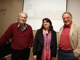Vallès i Anson, moderats per Seguranyes, dijous a la Fundació Valvi LLUÍS SERRAT