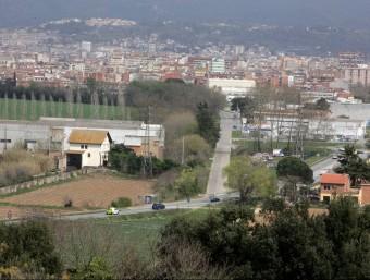 Límit entre Bescanó i Salt , on acabaria la variant J. SABATER