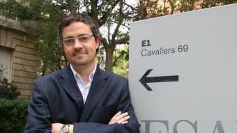 El professor Josep Manuel Comajuncosa en una fotografia recent