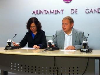 Orengo i García en roda de premsa. ARXIU