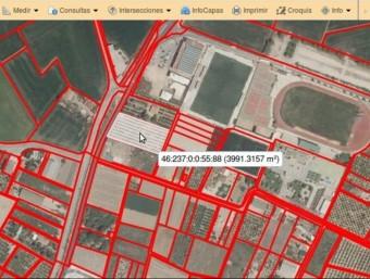 Captura de pantalla sobre la ubicació del polígon que s'hi denuncia. EL PUNT AVUI