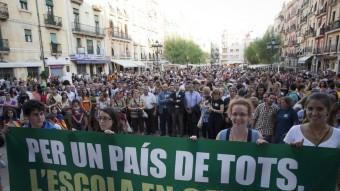 Una acció reivindicativa per l'escola catalana de Somescola, a Tarragona TJERK VAN DER MEULEN