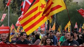 Manifestació de l'esquerra independentista l'octubre a Barcelona QUIM PUIG