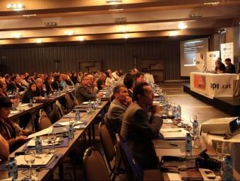 Un moment de la trobada dels API catalans ahir a Girona. JOAN SABATER