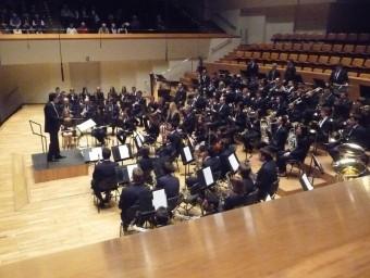 Actuació en el Palau de la Música de la banda de Villar. ESCORCOLL