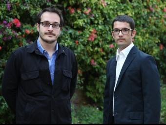 Miquel Cabal, guanyador del premi Vidal i Alcover, i Pau Berenguer, premi Tinet. E. MAGRE