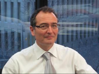 José Antonio Iglesias, al seu despatx de Vidacaixa.  ARXIU