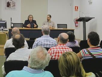 Joan Tardà s'adreça a l'auditori en un acte electoral a Alacant. B. VIDAL