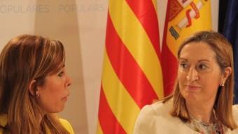 Alícia Sánchez-Camacho i Ana Pastor, en un acte a Barcelona ACN