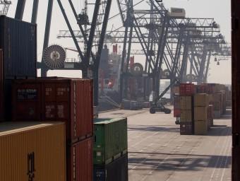 Contenidors del Port de Barcelona.  ARXIU /CRISTINA CALDERER