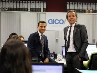 Xavi Giner (esquerra) i Carlos Puig, a les oficines de Gico a Terrassa.  QUIM PUIG