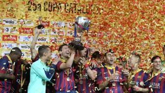 El Barça ha guanyat l'edició d'enguany de la Copa Catalunya LLUÍS SERRATŠ