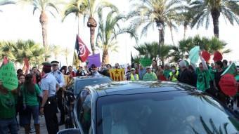 Els cotxes de Montoro i Camacho aquest dimecres a Vilanova i la Geltrú ACN