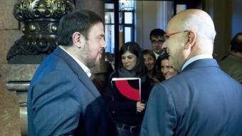 Oriol Junqueras i Josep Antoni Duran i Lleida mai no han tingut una bona relació JOSEP LOSADA / ARXIU