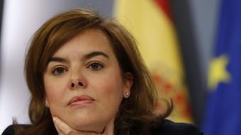 La portaveu del govern espanyol, Soraya Sáenz de Santamaría, ha aquest divendres a la roda de premsa posterior al Consell de Ministres EFE