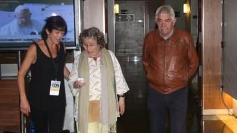 L'expresident de la Generalitat Pasqual Margall arriba a l'hotel on ERC confia celebrar aquesta nit un triomf electoral ACN