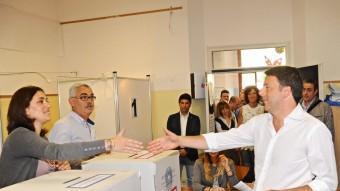 El primer ministre italià, Renzi després de votar