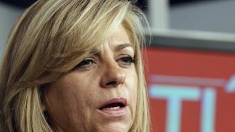 Valenciano , candidata del PSOE a les europees, molt seriosa, en la compareixença d'ahir EFE