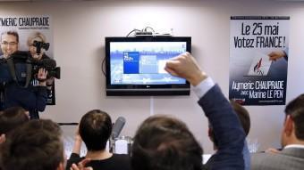 Els militants de Front National celebren la victòria a França EFE