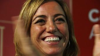Carme Chacón en l'acte de final de campanya del PSC a les eleccions europees ACN