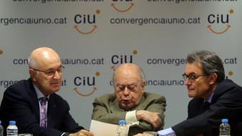 Duran, Pujol i Mas en l'executiva de CiU del 26 de maig passat quim puig