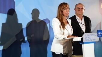 Sánchez-Camacho i Fisas en la compareixença per valorar els resultats de les europees JUANMA RAMOS