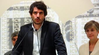 El cap de llista d'ICV al Parlament Europeu, Ernest Urtasun, celebra aquest dilluns els resultats de la formació a les eleccions d'aquest diumenge ACN