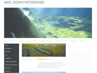 La pàgina principal del blog professional de l'acusat (mikel-crown.com) EL PUNT AVUI