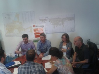 Conferència de premsa dels regidors de Compromís per Oliva. EL PUNT AVUI