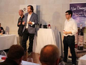 Moment de la presentació dels vins Comanglora al monestir de Poblet.  CELLERS DOMENYS