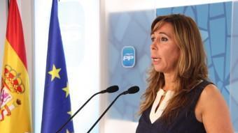 La líder del PP català, Alícia Sánchez-Camacho, aquest dijous després de la Junta Directiva ACN