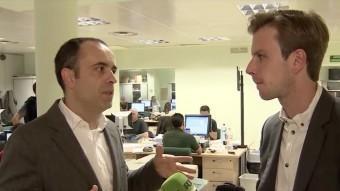 Carles Ribera entrevistat a la redaccio