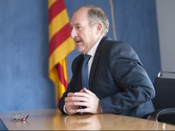 El secretari d'Ocupació i Relacions Laborals, en un moment de l'entrevista.  JOSEP LOSADA