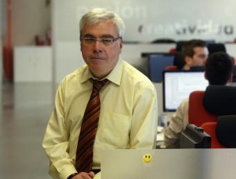 El director general d'Isoco, Javier Aróstegui, a les oficines de l'empresa a Sant Cugat.  ORIOL DURAN