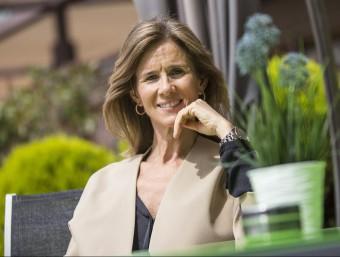L'ex-ministra de Ciència i Innovació, Cristina Garmendia, abans de participar al fòrum de debat Cronellà Creació.  ALBERT SALAMÉ
