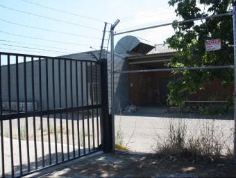 La zona de la nau de la Gasol on va passar l'accident. NEREA GUISASOLA/ ACN
