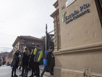 L'escola Pia de Sarrià, una de les afectades ALBERT SALAMÉ