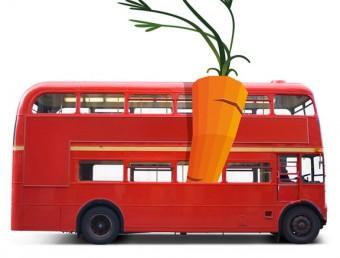 Imatge promocional que il·lustra la ruta fins a Anglaterra de les pastanagues EL PUNT AVUI