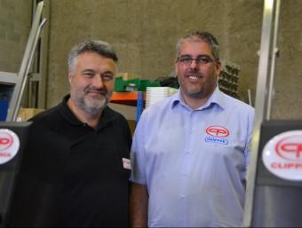 Josep M. Ricart i Antonio Alamo, els dos socis de l'empresa Rialpack industries de Manresa.  RAMON ROCA