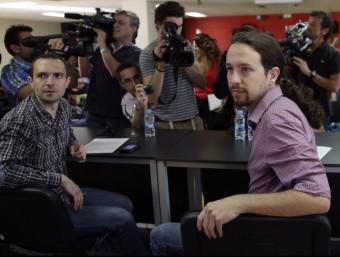 Podemos, liderat per Pablo Iglesias, és un moviment social i polític nascut darrerament.  ARXIU