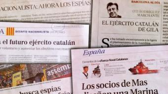 Conjunt de titulars de diaris de Madrid arxiu