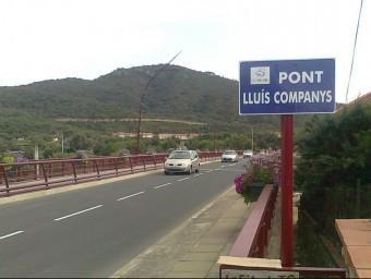 L'antic 'Pont blau' ara Pont Lluís Companys a la sortida del Voló direcció la frontera