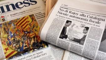 La premsa internacional té la mirada posada en el procés