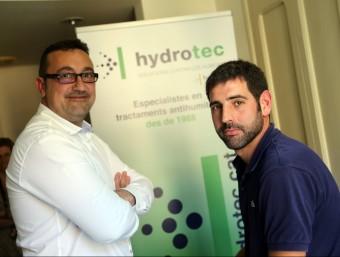 L'assessor tècnic Xavier Brosset i el tècnic Francesc Carpena, abans de l'entrevista amb L'Econòmic.  QUIM PUIG