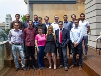 L'equip de Sensing & Control, amb el seu director, Narcís Avellana, al rengle superior, el segon per l'esquerra.  ARXIU