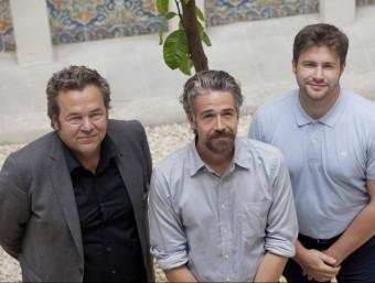 Christian Hiss, de Regionalwert AG; Guilhem Chéron, de La Rouche qui dit Oui! i Shane Gring, de Bould.  ARXIU