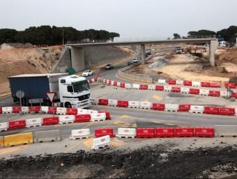 Les obres de l'enllaç de Caldes van començar al novembre. La foto és del març J. SABATER